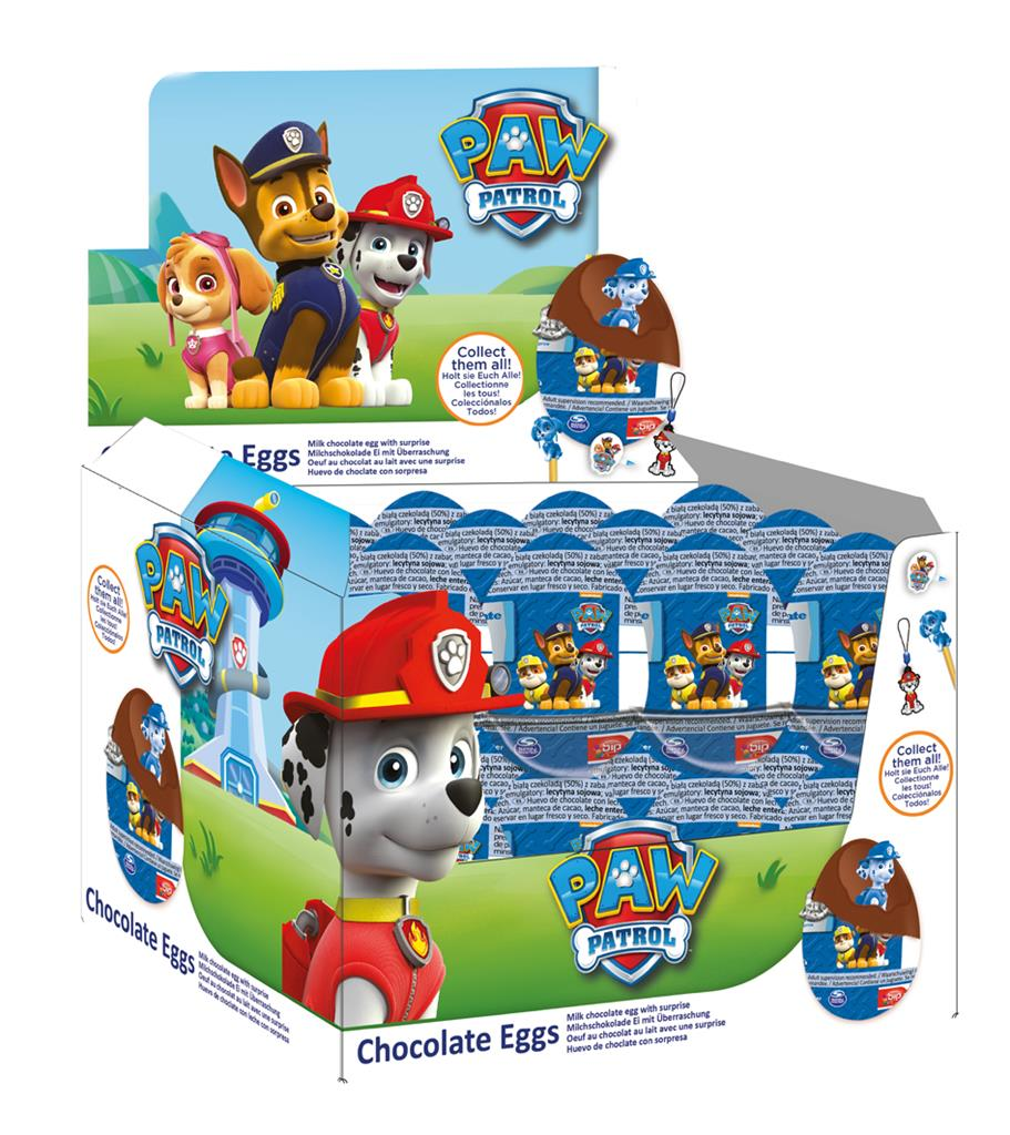 10 Eggs - PAW Patrol Chocolate Surprise Eggs with Prize Inside | eBay