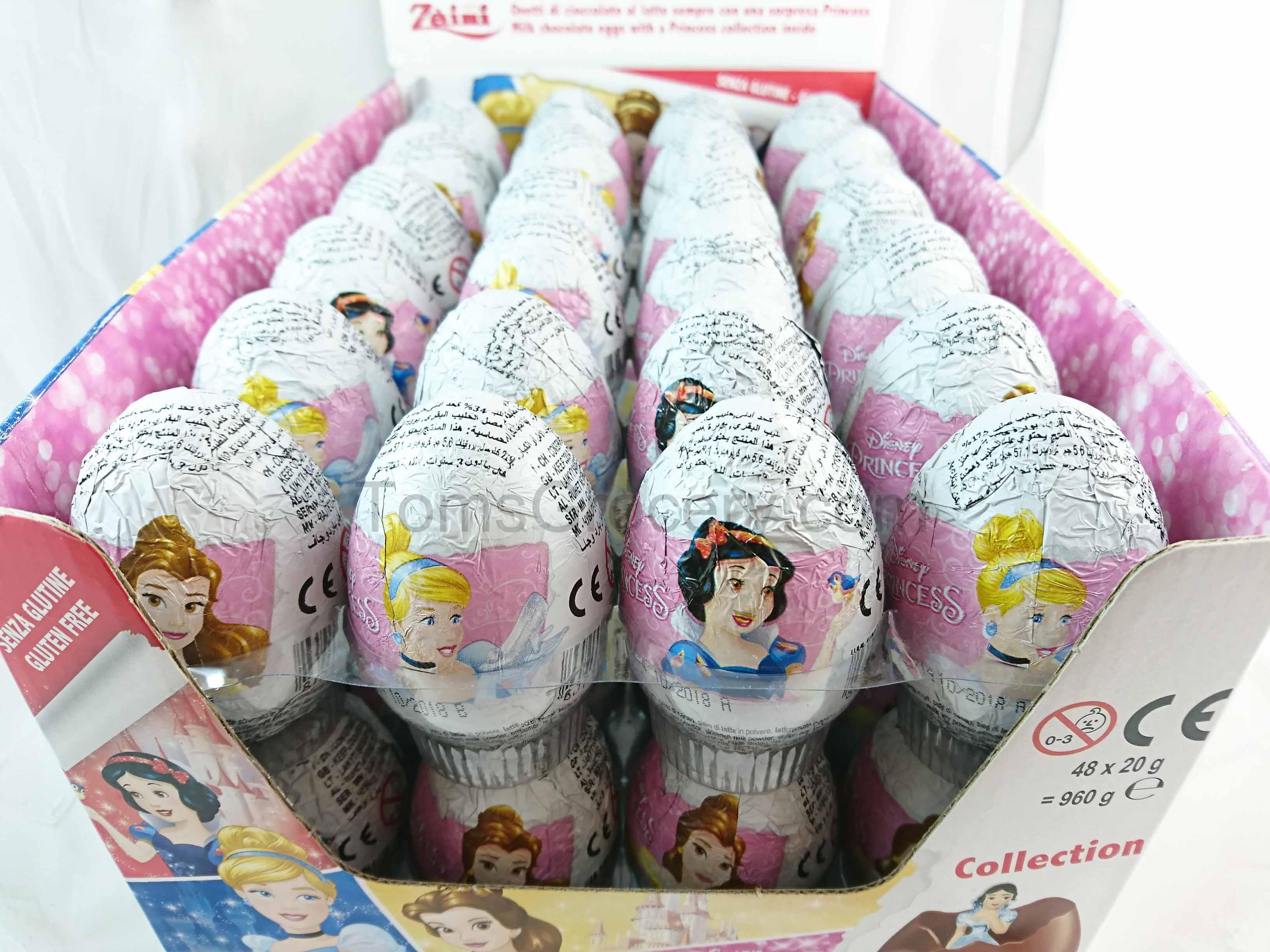 10 Eggs - Disney PRINCESS Girls Chocolate Surprise Easter Eggs ...