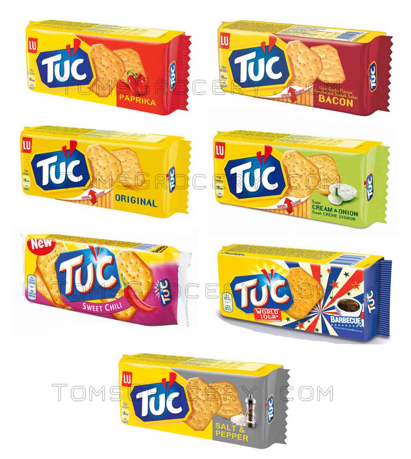 LU Crackers TUC PAPRIKA / ORIGINAL / BACON / BARBECUE ...