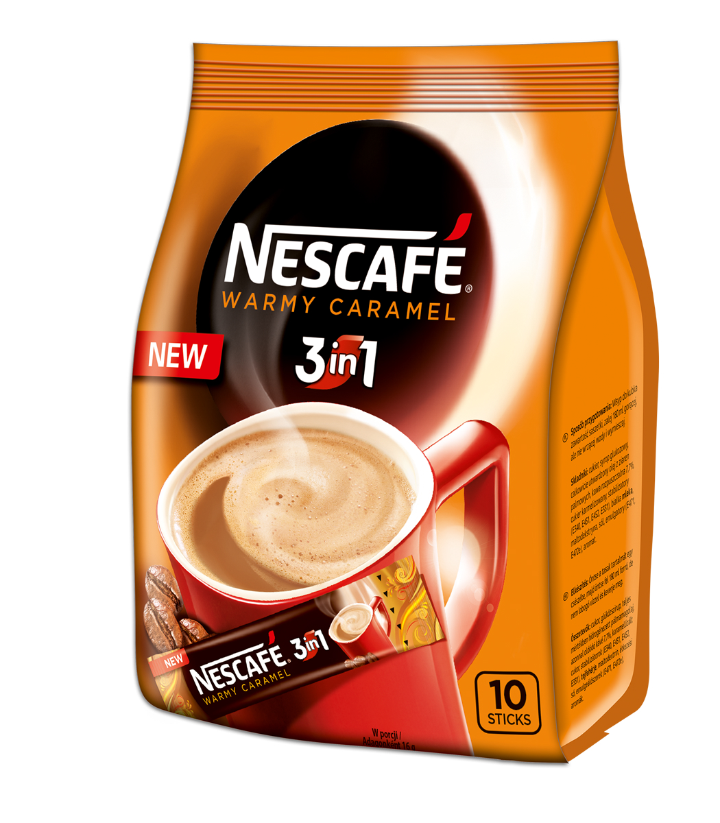 Nescafe Warmy Caramel 3in1 Instant Coffee 10 Sticks Bag